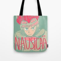nausicaa Tote Bags featuring Nausicaä by ocean