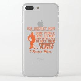 ICE HOCKEY MOM Clear iPhone Case
