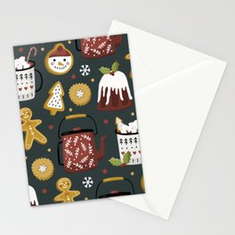 Gingerbread Christmas Yummies  Stationery Cards