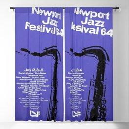 1964 Newport Jazz Festival Vintage Advertisement Poster Newport, Rhode Island Blackout Curtain