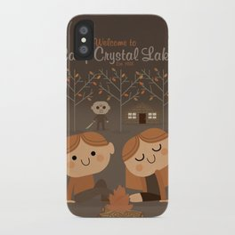 welcome to camp crystal lake iPhone Case