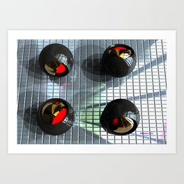 Titanium Olives Art Print