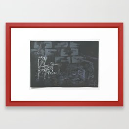 I longed for home as the years sagged over my aspirations of youth. Framed Art Print