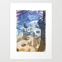 Columbia Fight Art Print