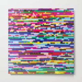 Glitch colorful background Metal Print