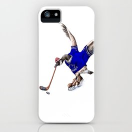 Canada Goose Playing Hockey iPhone Case