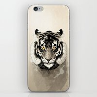 tiger iPhone & iPod Skins featuring Tiger by Rafapasta