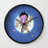 hentai Wall Clocks featuring KWeb #6 : Hentai Kamen (colors) by Adrien ADN Noterdaem