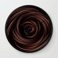 chocolate Wall Clocks featuring Chocolate by Giada Rossi