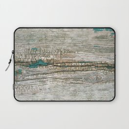 Rustic Wood Ages Gracefully - Beautiful Weathered Wooden Plank - knotty wood weathered turquoise pa Laptop Sleeve
