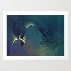The Fox who talked the Moon and the Stars Art Print