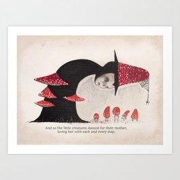 Toadstool Mother Art Print