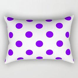 Polka Dots - Indigo Violet on White Rectangular Pillow