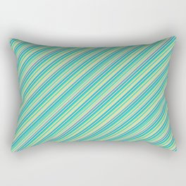 Lime Inclined Stripes Rectangular Pillow