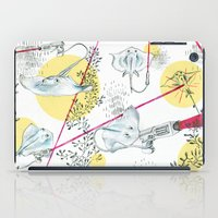 guns iPad Cases featuring Ray Guns by Sarah Emily Kirk