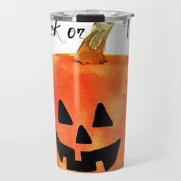 Trick or Treat Jack-O-Lantern, Halloween Pumpkin Travel Mug