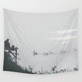 Misty Morning on the Clarence (1994) Wall Tapestry