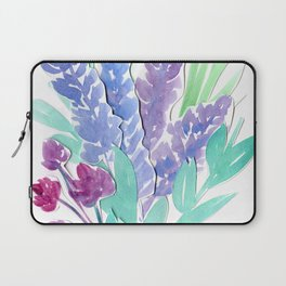 Lavender Floral Watercolor Bouquet Laptop Sleeve