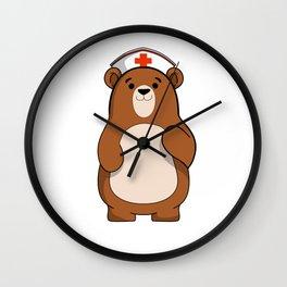 Nurse Care Bear International Nurse Day T-Shirt Wall Clock