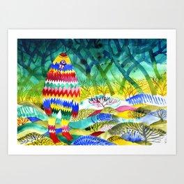 Zigzagman Art Print