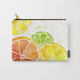 Fruit Juicy Citrus Watercolor Carry-All Pouch