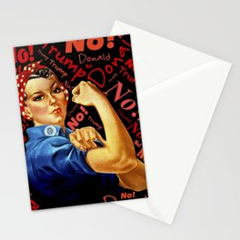 Women Against Trump (Rosie the Riveter) Stationery Cards