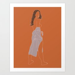 Orange-Mauve Art Print