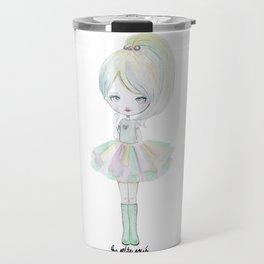 Pastel rainbow doll Travel Mug