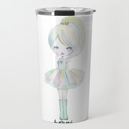 Pastel rainbow doll Travel Mug