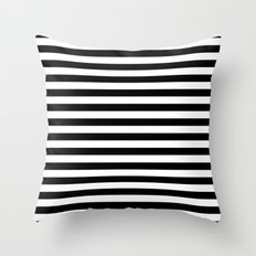 Modern Black White Stripes Monochrome Pattern Throw Pillow