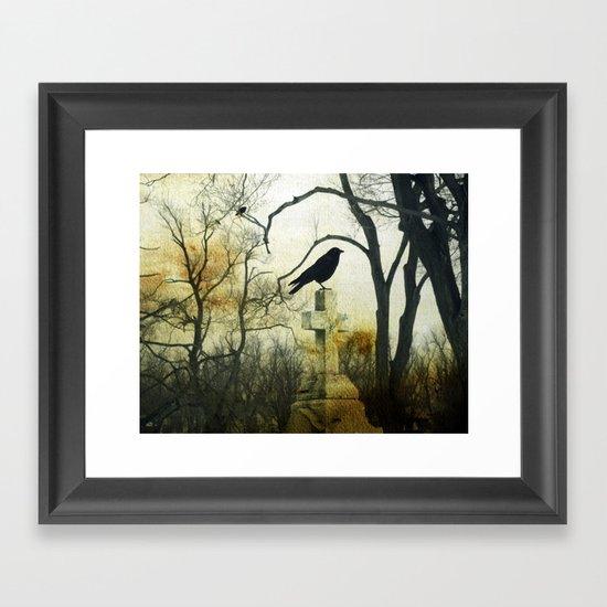 Cross Perch Framed Art Print
