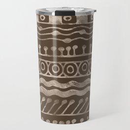 Bold Folk pattern pastel gold n.10 Travel Mug