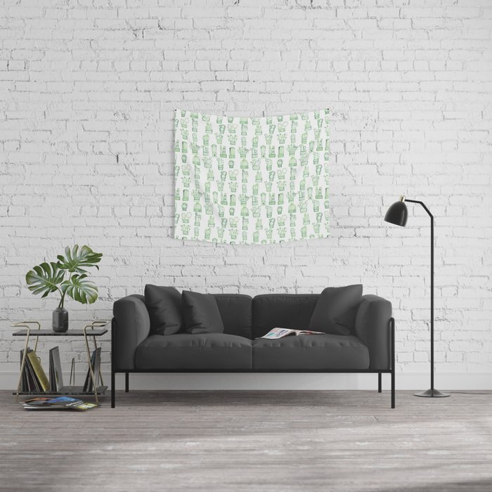 Cacti Collection Wall Tapestry