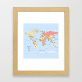 Political Map of The World - I Framed Art Print