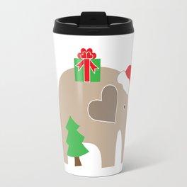 Christmas Elephant Travel Mug