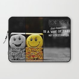 hapiness quote Laptop Sleeve