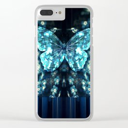 ButterFly Glitch Clear iPhone Case