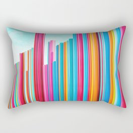 Colorful Rainbow Pipes Rectangular Pillow