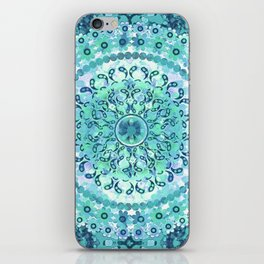 Aqua Mosaic Mandala iPhone Skin