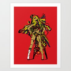 HATHOR ~ RED Art Print
