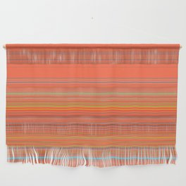 Orange Grey Stripe Design Wall Hanging