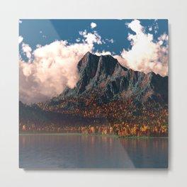 Autumn Cliffs Metal Print
