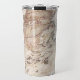 Polished Rose Marble Slab Travel Mug