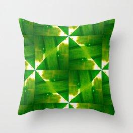 Abstract green grass geometric design Throw Pillow