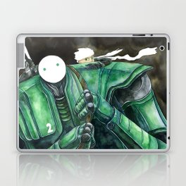 Moonbot #2: Green Laptop & iPad Skin