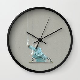 Paths to the waterfall - three - Tai Chi Wall Clock