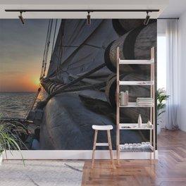 Sunset Sail Wall Mural