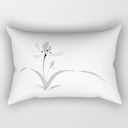 Chinese orchid ink painting - romantic & deep love Rectangular Pillow