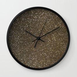 Bronze Gold Burnished Glitter Wall Clock