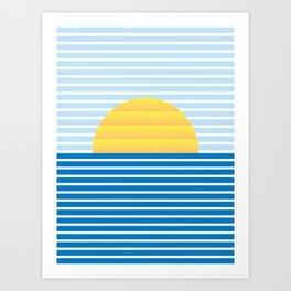 Minimalist landscape I Art Print